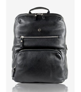 NEW Berlin - Backpack aus Leder in Schwarz