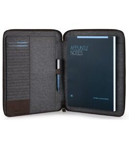 Slim Pulse Notepad Holder A4 in Dunkelbraun