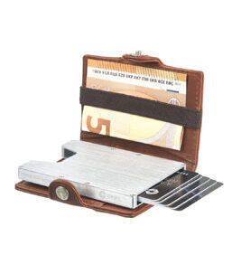 Cript Mini Wallet - 3.55 STEEL classic cognac