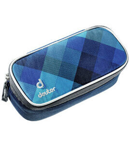 Pencil Case in Blue Crosscheck