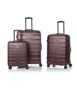 Clipper by Pack Easy - Peru Trolley Set in Bordeaux