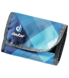 Wallet in Blue Crosscheck