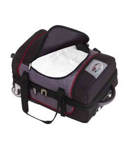 "Trolley-Travel Bag ""OutBAG Sports"" aus ABS/PC in schwarz und blau"