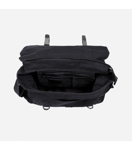 Canvas - Messenger Bag in Schwarz