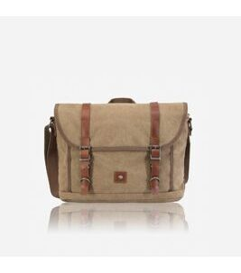 Canvas - Messenger Bag in Khaki