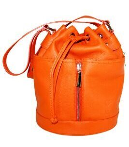 Peach Beuteltasche in Orange