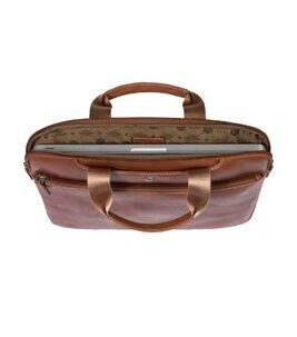 "Texas - 15"" Slim RFID Laptop Brief in clay"