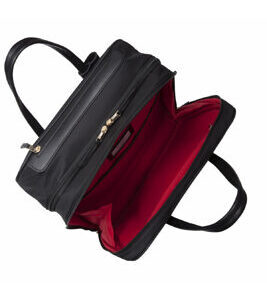 "Mayfair Burlington 15"" Laptoptasche mit Räder in Schwarz/Gold"