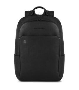 Black Square Laptop-Rucksack in Schwarz