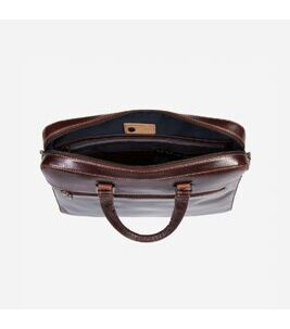 "Oxford - 15"" RFID Slim Aktentasche in Tobacco"