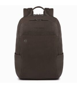 Black Square Laptop-Rucksack in Dunkelbraun