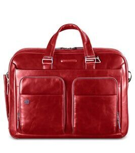 Blue Square – Kurzgrifflaptoptasche mit iPad/iPad®Air-Fach in rot