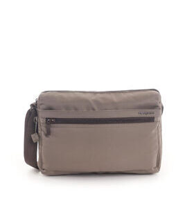 Eye Medium Shoulder Bag RFID in Sepia Brown