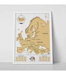 Scratch Map Europe - Reisekarte Europa