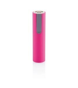 2200mAh Power Bank in Pink/Grey