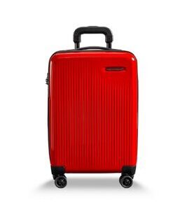 Sympatico, International Carry-On expandable Spinner in Fire Red