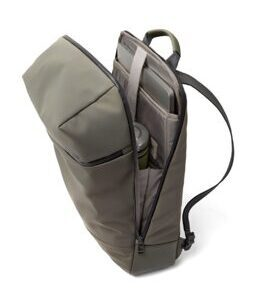 Daypack Fabric Backpack SAVVY in Olive Grey
